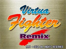 Title screen of Virtua Fighter Remix on the Sega Saturn.