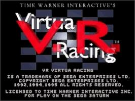 Title screen of Virtua Racing on the Sega Saturn.