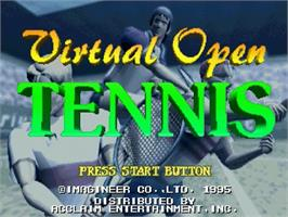 Title screen of Virtual Open Tennis on the Sega Saturn.