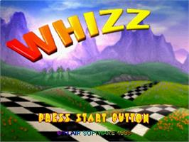 Title screen of Whizz on the Sega Saturn.