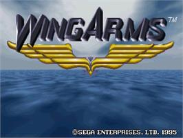 Title screen of Wing Arms on the Sega Saturn.