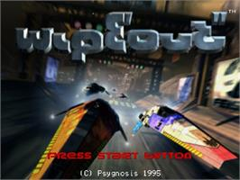 Title screen of Wipeout on the Sega Saturn.