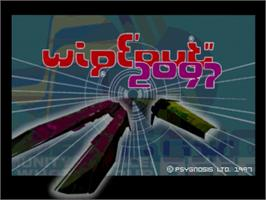 Title screen of Wipeout 2097 on the Sega Saturn.