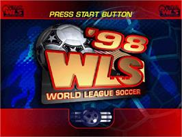 Title screen of World League Soccer '98 on the Sega Saturn.