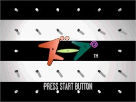 Title screen of Zoop on the Sega Saturn.