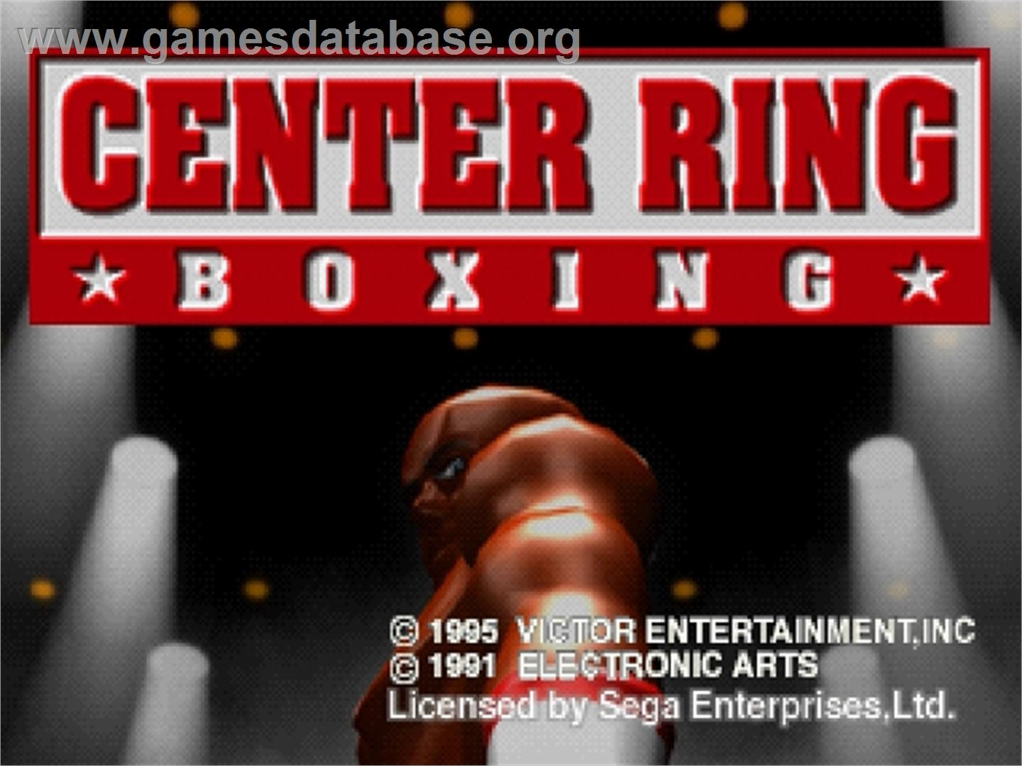 Center Ring Boxing - Sega Saturn - Artwork - Title Screen