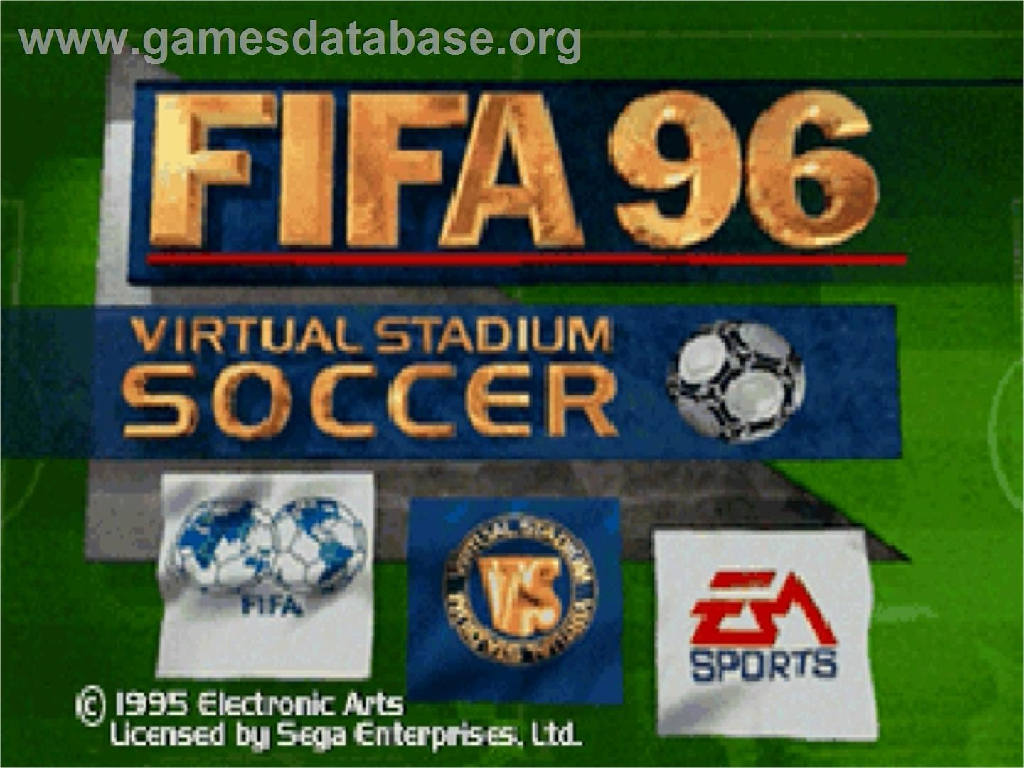 FIFA 96 - Sega Saturn - Artwork - Title Screen