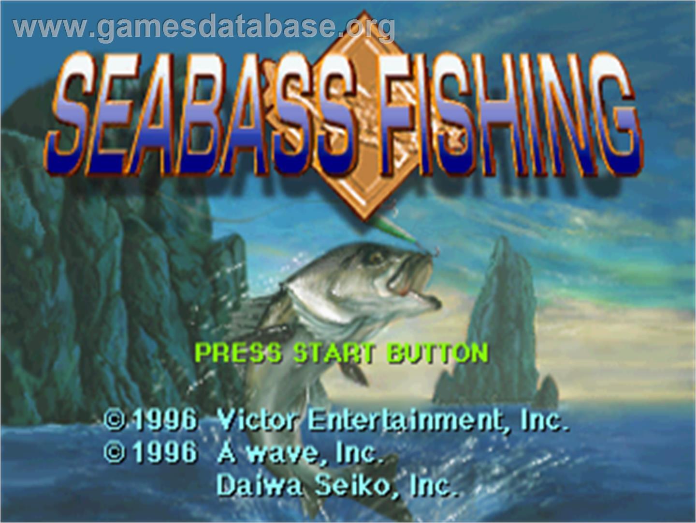 Sea bass fishing sega saturn games database for Bass fishing game