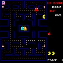 In game image of Pac-Man on the Sharp X68000.