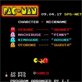 Title screen of Pac-Man on the Sharp X68000.