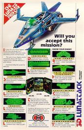 Advert for 3D Lunattack on the Dragon 32-64.