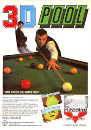 Advert for 3D Pool on the Sinclair ZX Spectrum.