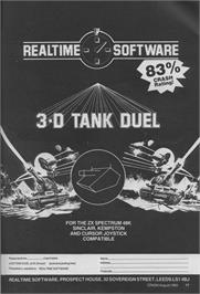 Advert for 3D Tank Duel on the Sinclair ZX Spectrum.