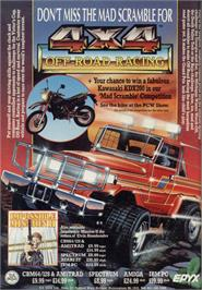 Advert for 4x4 Off-Road Racing on the Sinclair ZX Spectrum.