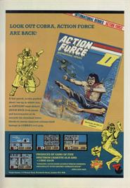 Advert for Action Force 2 on the Sinclair ZX Spectrum.