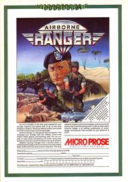 Advert for Airborne Ranger on the Sinclair ZX Spectrum.