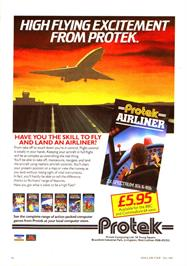 Advert for Airliner on the Sinclair ZX Spectrum.