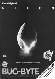 Advert for Alien on the Sinclair ZX Spectrum.