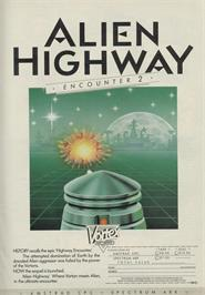 Advert for Alien Highway: Encounter 2 on the Sinclair ZX Spectrum.