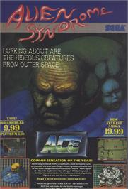 Advert for Alien Syndrome on the Sinclair ZX Spectrum.
