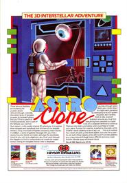 Advert for Astroclone on the Sinclair ZX Spectrum.