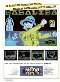 Advert for Babaliba on the Sinclair ZX Spectrum.