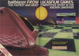 Advert for Ballblazer on the Sinclair ZX Spectrum.
