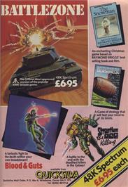 Advert for Battlezone on the Commodore 64.