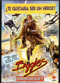 Advert for Biggles on the Sinclair ZX Spectrum.