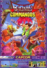 Advert for Bionic Commando on the Sinclair ZX Spectrum.