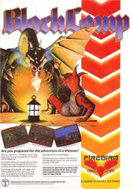 Advert for Black Lamp on the Sinclair ZX Spectrum.