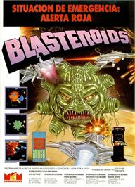 Advert for Blasteroids on the Sinclair ZX Spectrum.