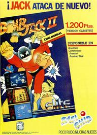 Advert for Bomb Jack II on the Sinclair ZX Spectrum.