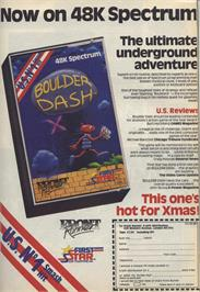 Advert for Boulderdash II: Rockford's Revenge on the Commodore 64.