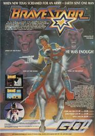 Advert for BraveStarr on the Sinclair ZX Spectrum.