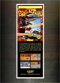 Advert for Breakthru on the Sinclair ZX Spectrum.