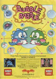 Advert for Bubble Bobble on the Sinclair ZX Spectrum.