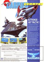 Advert for Carrier Command on the Sinclair ZX Spectrum.