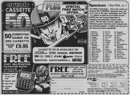 Advert for Cassette 50 on the Sinclair ZX Spectrum.