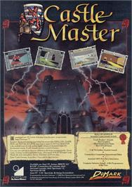 Advert for Castle Master on the Sinclair ZX Spectrum.