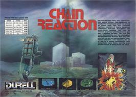 Advert for Chain Reaction on the Sinclair ZX Spectrum.