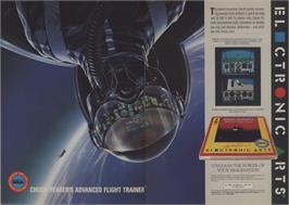Advert for Chuck Yeager's Advanced Flight Trainer on the Apple II.