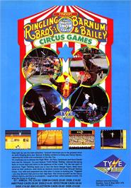 Advert for Circus Games on the Sinclair ZX Spectrum.