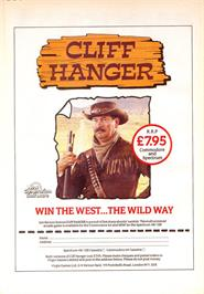 Advert for Cliff Hanger on the Sinclair ZX Spectrum.