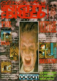 Advert for Clive Barker's Nightbreed:  The Action Game on the Amstrad CPC.