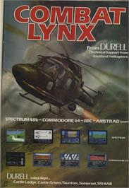 Advert for Combat Lynx on the Sinclair ZX Spectrum.