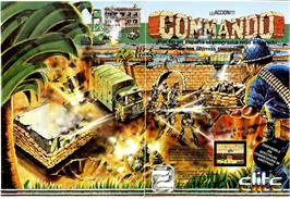 Advert for Commando on the Sinclair ZX Spectrum.