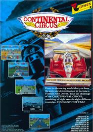 Advert for Continental Circus on the Sinclair ZX Spectrum.
