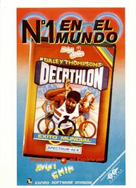 Advert for Daley Thompson's Decathlon on the Sinclair ZX Spectrum.