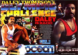 Advert for Daley Thompson's Olympic Challenge on the Sinclair ZX Spectrum.